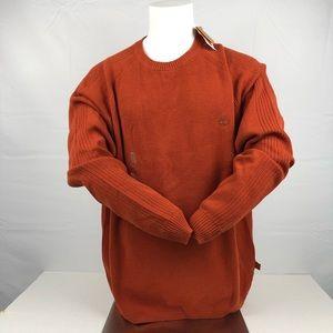NWT Timberland Orange Long Sleeve Crewneck Sweater
